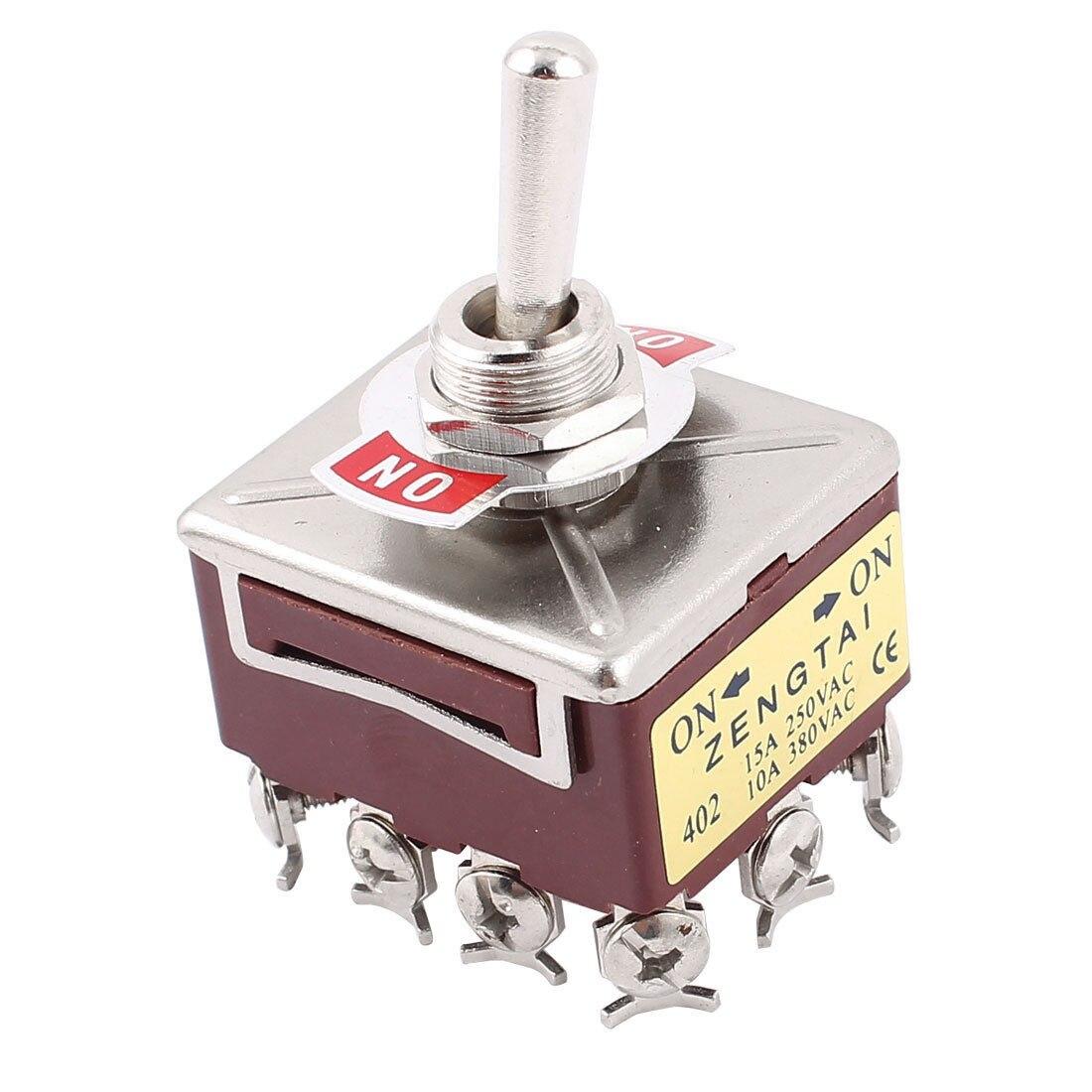 12 Screw Terminals On/On 4PDT Toggle Switch AC15A/250V 10A/380V12 Screw Terminals On/On 4PDT Toggle Switch AC15A/250V 10A/380V