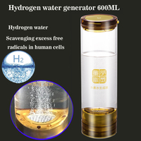 New SPE Hydrogen rich generator water bottle seperate H2 and O2 High Pure Hydrogen cup Anti Aging Alkaline water 600ML USB