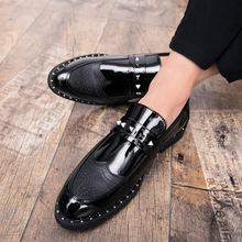 2018 New Trend Luxury Mens Loafers Brand Autumn Winter Dress Leather Shoes Hot Sale High Quality Business Men Wedding