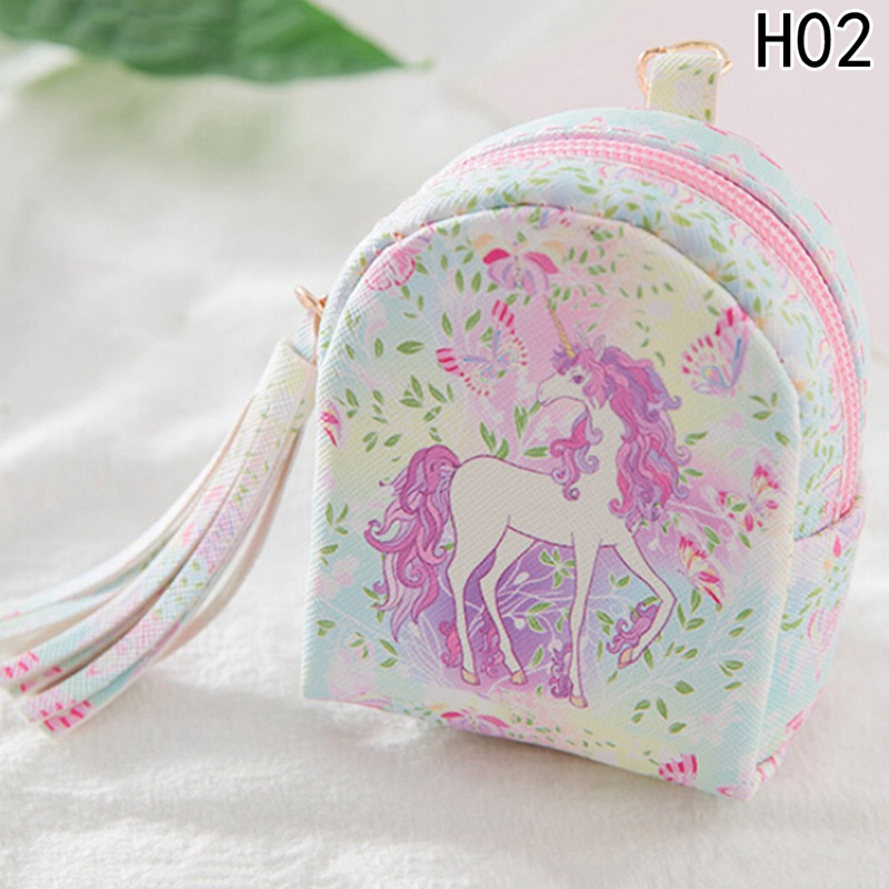 Purse Kids Children Coin Purses Card Holder Key Money Bags For Girls Ladies Small Cute Kawaii Cartoon Horse Women Wallets cute cats coin purse pu leather money bags pouch for women girls mini cheap coin pocket small card holder case wallets