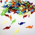 (45 г/лот) Multi-Color Динозавр/Рыба/Лошадь Brontosaurus Конфетти Дети Животных Тематическая Вечеринка Украшения Стола декоративные Материалы