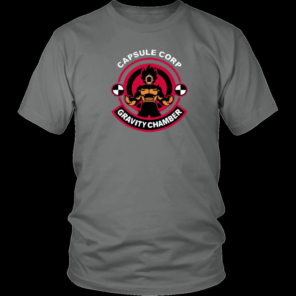 Capsule Corporation Gravity Chamber Mens Printed T-Shirt