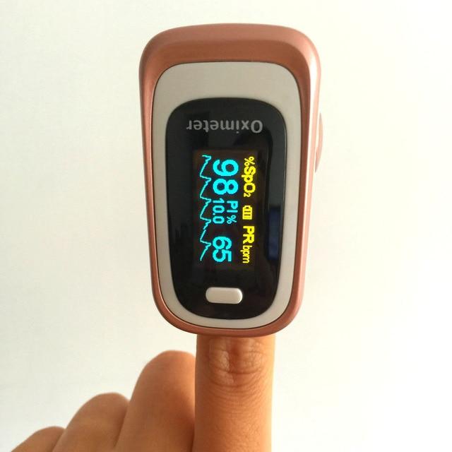 Pulse Oximeter visual/Sound Alarm SPO2 PR Memory Recall 8 Hours PI ODI Sleep