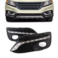 For Honda Crosstour 2015 2016 2017 Auto Car LED Lights DRL Daytime Running Light Driving Lamp Set Replacement