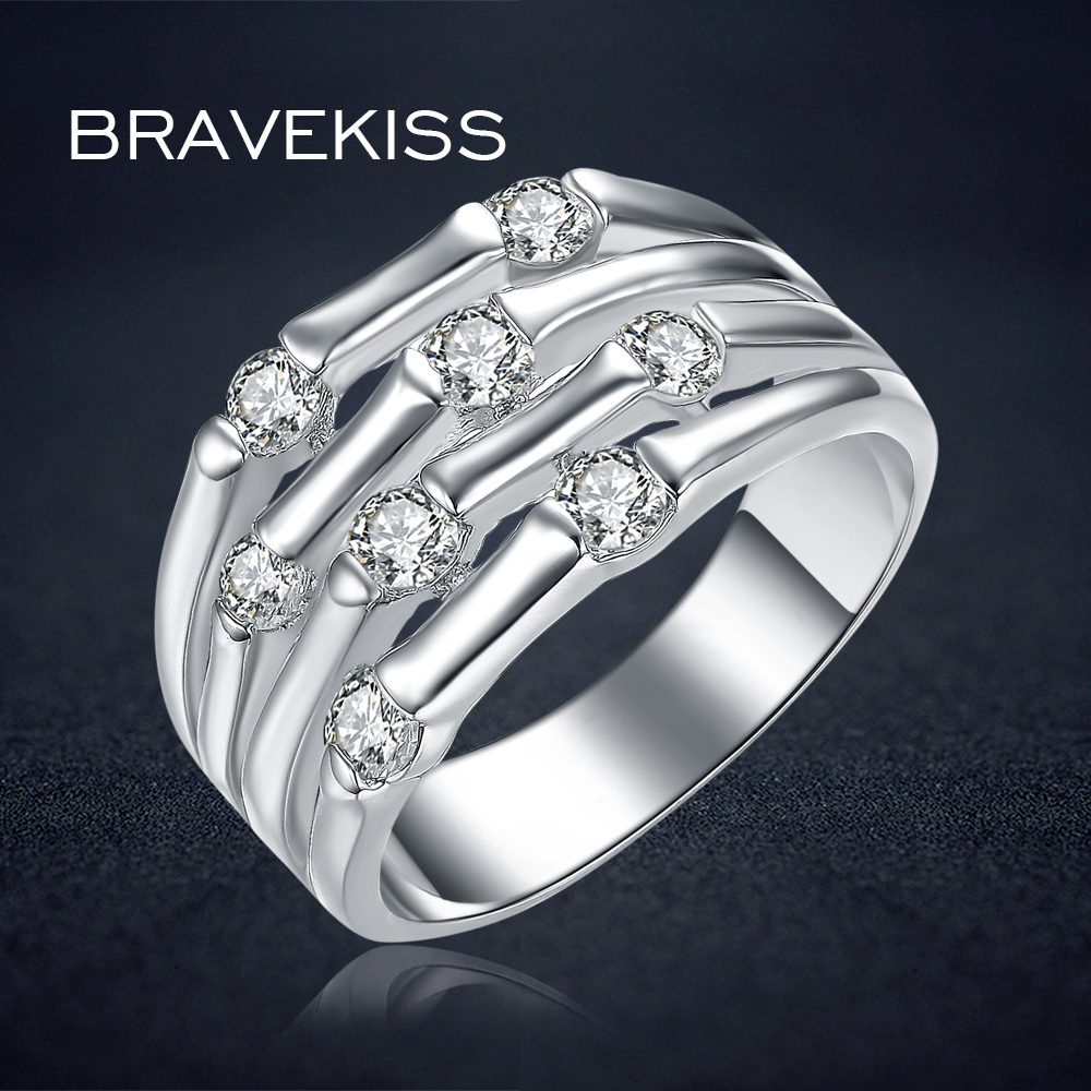 Bravekiss Classic Bridal Wedding Cz Stone Solitaire Rings
