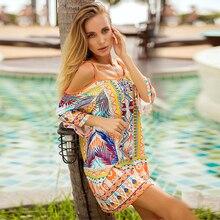 Sexy splice Deep V-neck Women Beach Dress Print Sling Backless Female Short Dress 2019 Summer Fashion Casual clothing цена