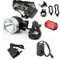 5000 Lm T6 LED Bicycle Bike Light Head Light Headlamp Rechargeable Front Rear Bicycle Light With