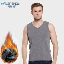 2019 Men Thermal Undershirt Autumn Winter Warm Vest Comfortable Soft Clothes(China)