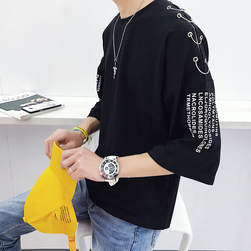 Lovers Seven Part T Shirt Personality City Boy Trend Exquisite Harajuku Tops Stranger Things Free Shipping Fashion Best Black