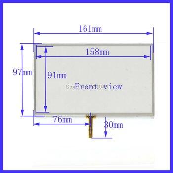 161mm * 97mm Navigasi ZhiYuSun las 4-kawat layar sentuh resistif 161X97mm Cocok untuk semua 7 inch GPS perangkat kompatibel