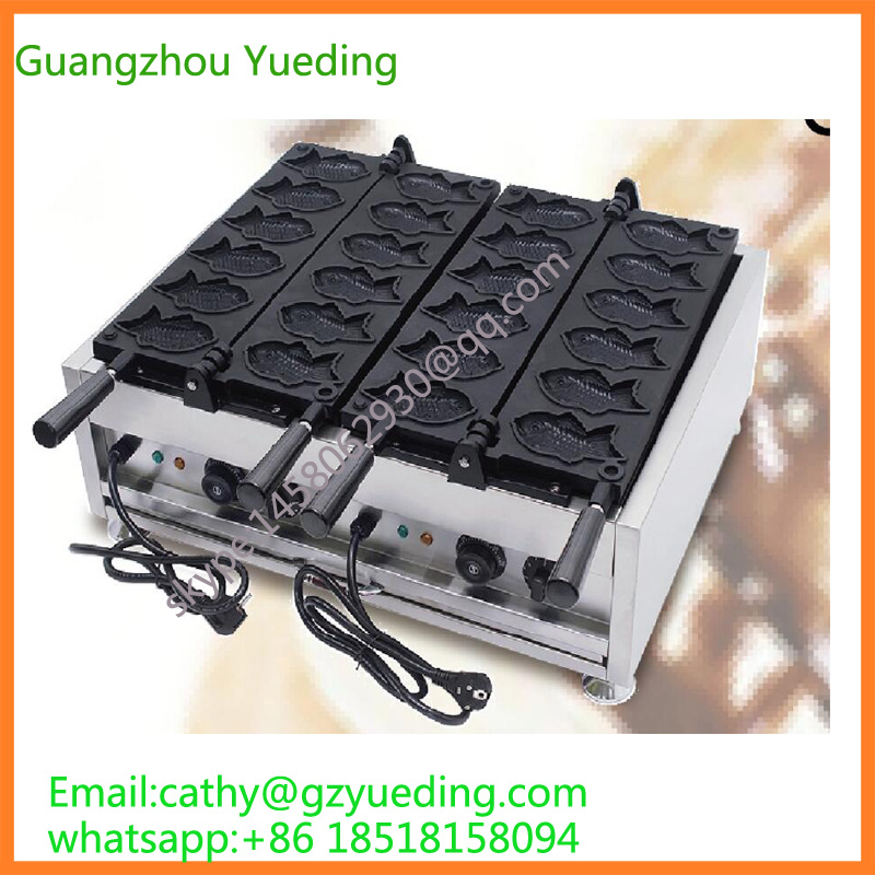 Fast Food High Efficiency Ice Cream Taiyaki Machine/Big Fish Shaped Cake Mould/Taiyaki Maker Machine