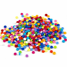 150 Pcs Mixed Colours 2 Hole Round 6mm Sew Craft Plastic DIY Buttons , for Sewing, Crafts, Jewellery making, Knitting 7NK92