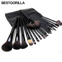 Professional 24pcs Makeup Brushes Set Kit With Case Bag Makeup Kwasten Foundation Contour Brush With Eyebrow