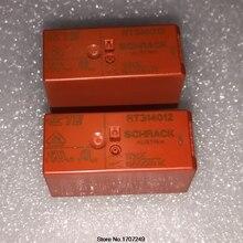 Darmowa wysyłka 100% nowy oryginalny przekaźnik 10 sztuk/partia SCHRACK przekaźnik mocy RT314012 12V 8PIN 16A