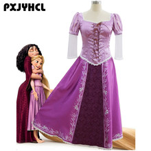 bade3fe91 Las niñas princesa Rapunzel vestidos de novia vestido largo vestido de  fiesta de fantasía para adultos de Navidad traje Cosplay .