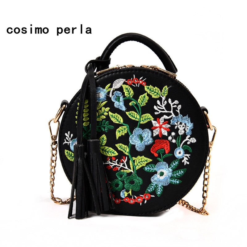 Ethnic Style Embroidery Floral Handbags