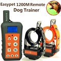 EasyPet Waterproof and Rechargeable 1200M /1300 Yards Remote range Pet Dog Training Collar For 1 or 2 or 3 Dogs Trainer