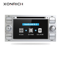 2 Din Car Radio GPS Android 8.1 Car DVD Player For Ford Focus 2 Mondeo 4 C Max S Max Ford Fiesta Kuga Fusion Transit Galaxy IPS