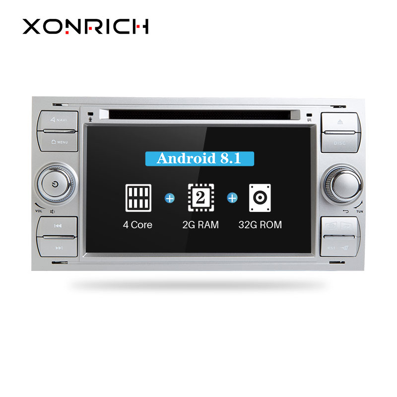 2 Din autoradio GPS Android 8.1 lecteur dvd De Voiture Pour Ford Focus 2 Mondeo 4 C-Max S-Max ford Fiesta Kuga Fusion Galaxy Transit IPS