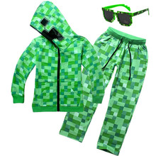 Minecraft Hoodies Cosplay Costumes Boys Suit Sweatshirt Boy