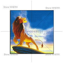 5D Full Drill Square Diamond embroidery Lion King Mosaic Puzzle Picture Pastes Art