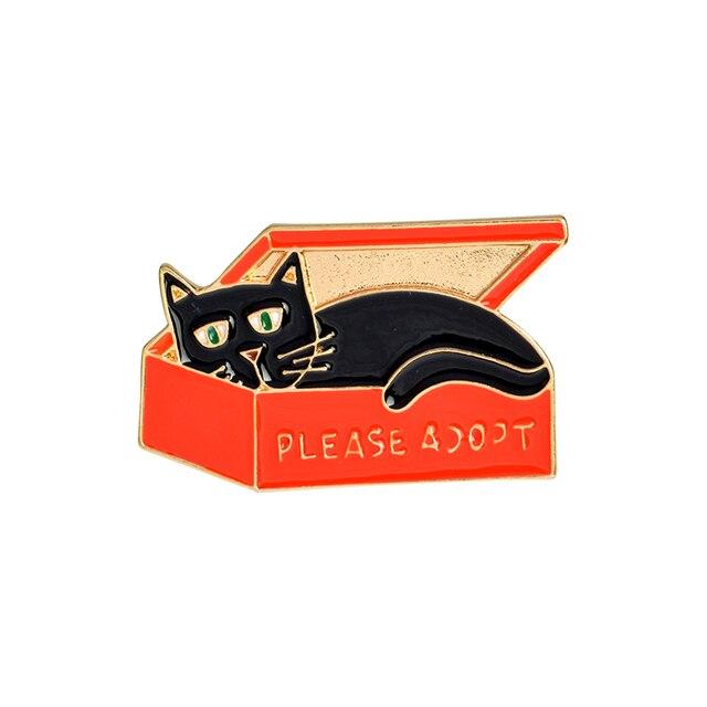 QIHE JEWELRY Cat In The Box Sexy Underwear Bird Cute Ghost Cartoon Enamel Hard Metal Pins Brooches Badge Men Women Jewelry 3