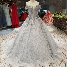 04471 Luxury Strapless Evening Dresses From Dubai Grey Long