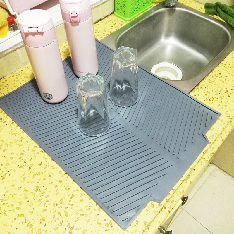 Prato quadrado de silicone esteira de secagem premium resistente ao calor utensílios de mesa dishwaser almofada durável louça mesa esteira placemat