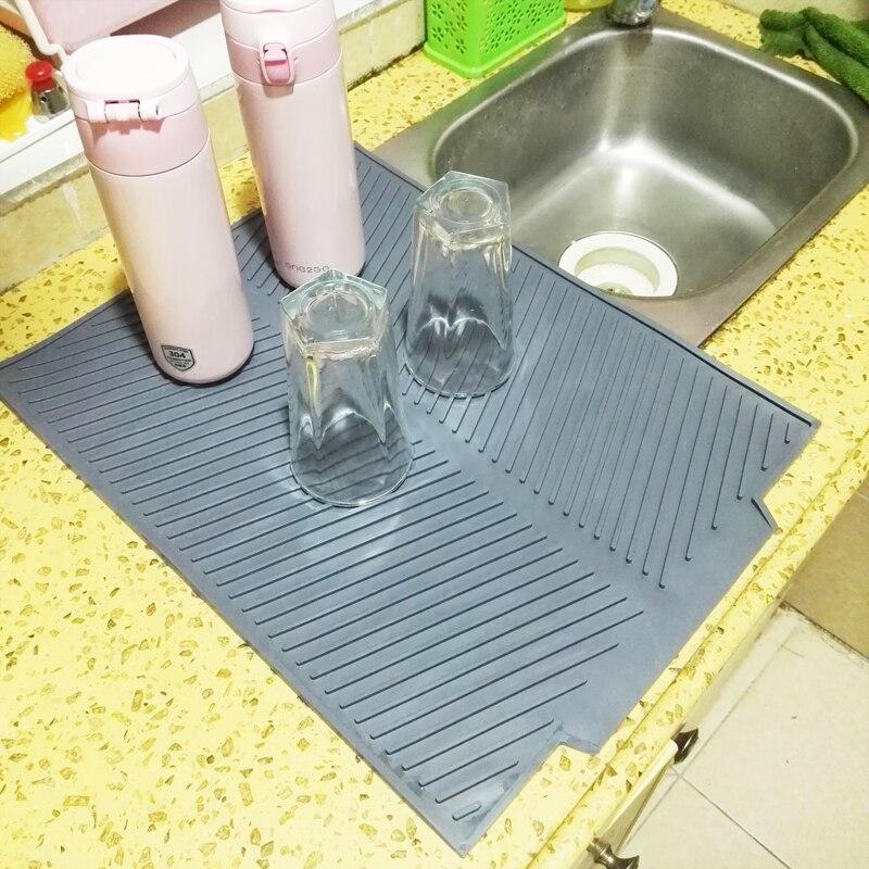 Silicone Carré Mat Vaisselle de Séchage Premium Résistant À La Chaleur Vaisselle Dishwaser Durable Coussin Pad Vaisselle Table Mat Napperon