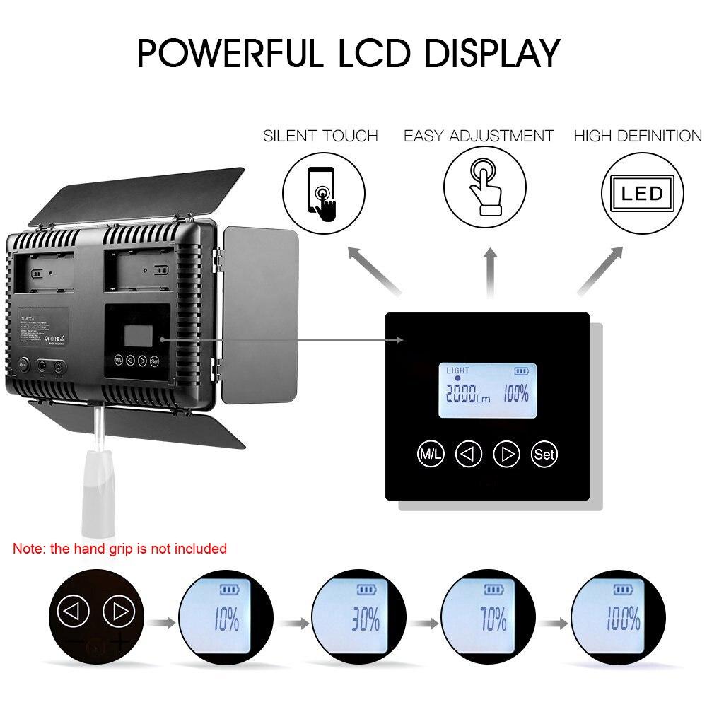 Spash TL-600S 2 zestawy lampa studyjna światło led do kamery do Youtube Shoot 600 koraliki 25W CRI90 lampa fotograficzna z 200cm baterią statywu