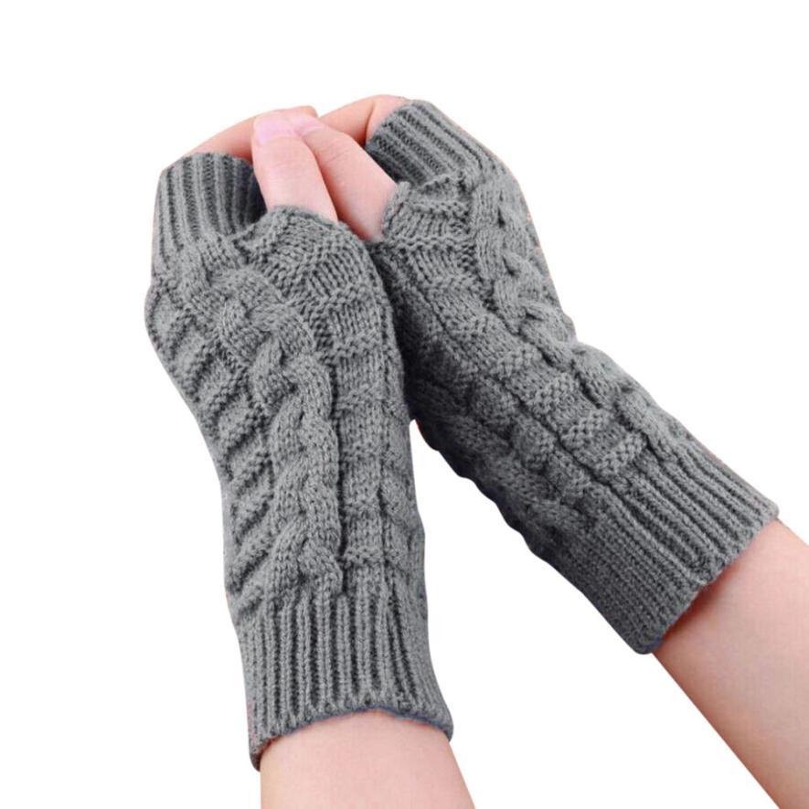 Модные Трикотажные Arm Пальцев Зимние перчатки sem dedos homem унисекс мягкие теплые варежки 8,15