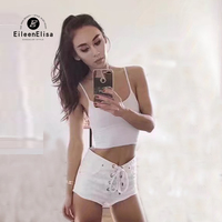 Eileen Elisa Women Tank Top Shorts 2017 Fashion Summer Women Casual Tank Tops Vest