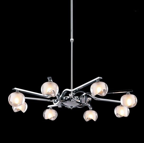 italian style creative simple led pendant lights crystal fixtures