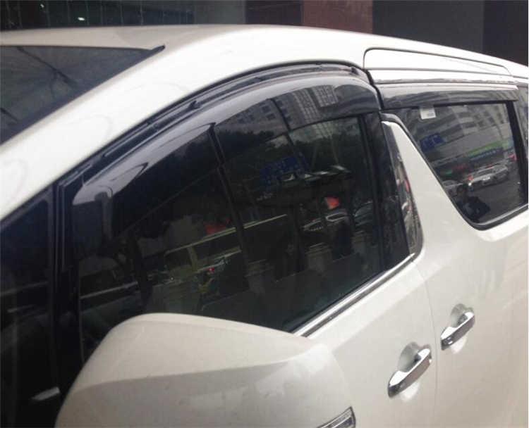 สำหรับ Toyota Alphard หน้าต่าง Visor สำหรับ Toyota Alphard 2015-2017 Vent Shades Sun Rain Deflector Guard 4 ชิ้น/เซ็ตรถจัดแต่งทรงผม