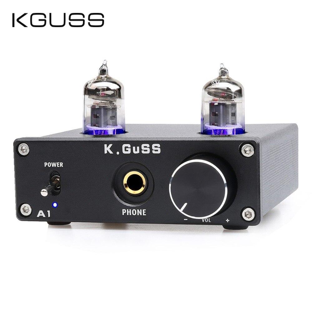 KGUSS A1 MINI 6J1 Audio Tube Bile Headphone Amplifier NE5532 6K4 Headphone Amp