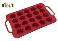 Бесплатная доставка Новое поступление LFGB качество силиконовой резины 15 мини-булочки caissettes чашки выпечки кекса формы с Сталь frame
