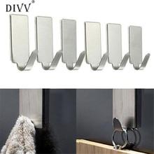 DIVV lovely pet Self Adhesive Home Kitchen Wall Door Stainless Steel Holder Hook Hanger sep930