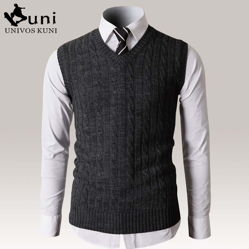 New Sweaters Vest Men Autumn Mens Vest Casual Slim fit Business ...