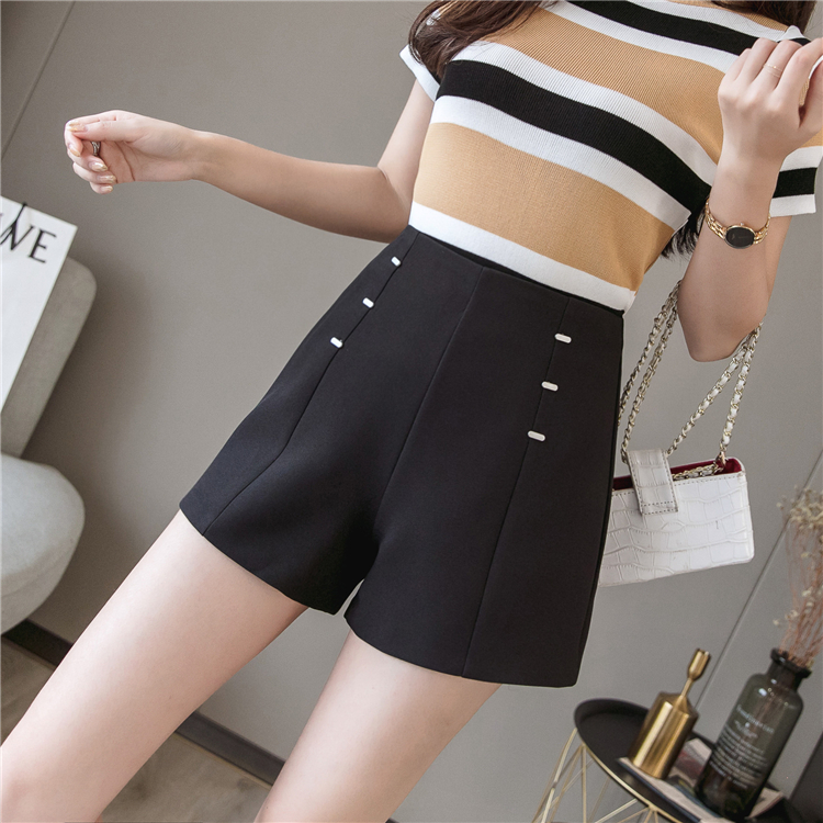 Summer Shorts For Women 2019 High Waist Casual Wide Leg Shorts Loose OL work Wear Solid Shorts 8