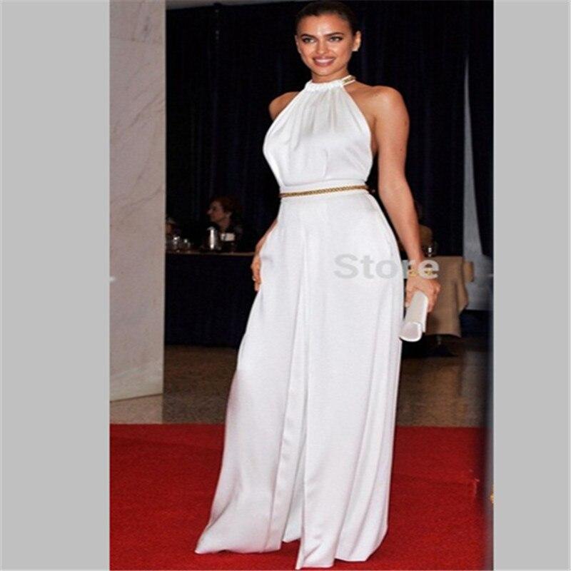 Sexy vente chaude robes de célébrité pure corsage creux dos Appliques embelli robes de soirée robes de bal