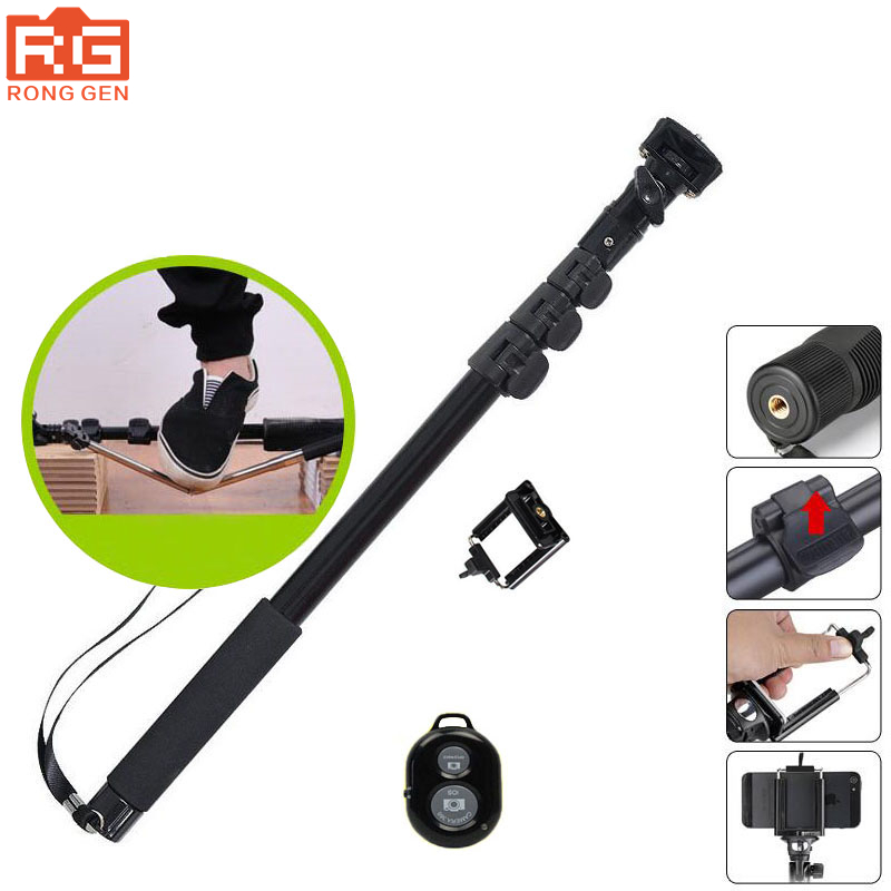 2017 new arrive Yunteng 188 tripod monopod for camera and phone monopod for gopro Good quality Give Bluetooth remote control