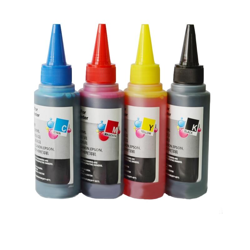4x100 ml compativel universal kit de recarga de tinta corante para hp canon para o irmao