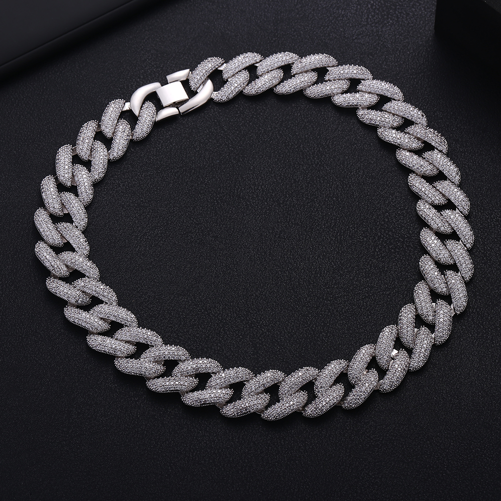 Image 4 - Accking Full  CZ Statement Cuban Link Chain Choker Necklace adjust for Man or Women Bijoux Wholesale free shipping-in Choker Necklaces from Jewelry & Accessories