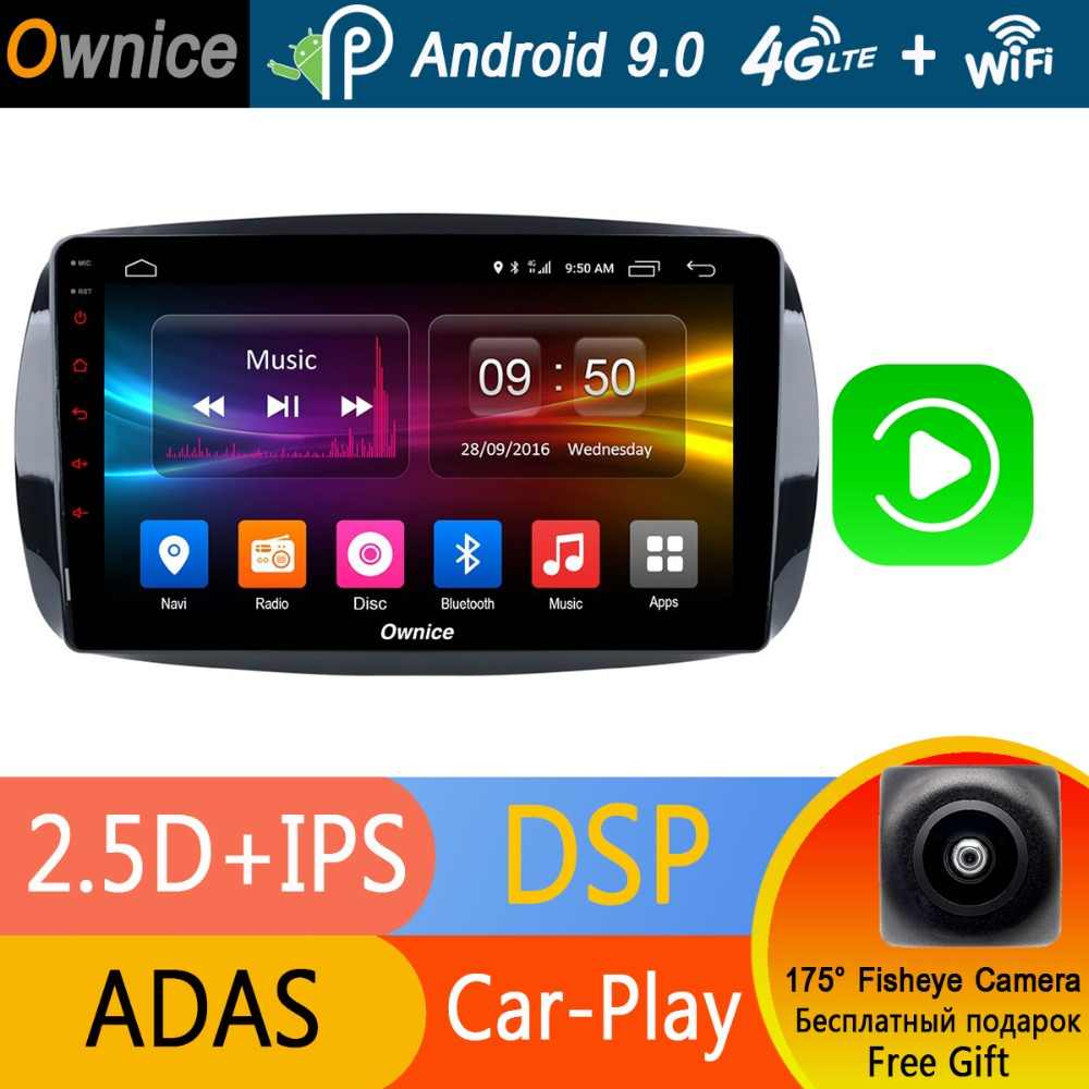 "9 ""IPS Android 9.0 4G RAM + 32G ROM 8 Core Car Radio Player dla Mercedes Benz smart Fortwo Forfour 2016 2017 2018 ADAS DSP CarPlay"