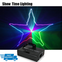 Fast delivery DJ Laser stage light Full Color 96 RGB Patterns Projector Stage Effect Lighting for Disco Xmas Party 1 head laser mini led laser light rgb 120 patterns stage lighting effect laser projector auto sound actived lamp xmas party disco lights