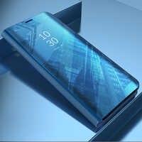 Funda de espejo transparente con tapa para Xiaomi Redmi Note 4X cubierta de lujo de cuero PU funda inteligente para Xiaomi Redmi Note4X teléfono caso