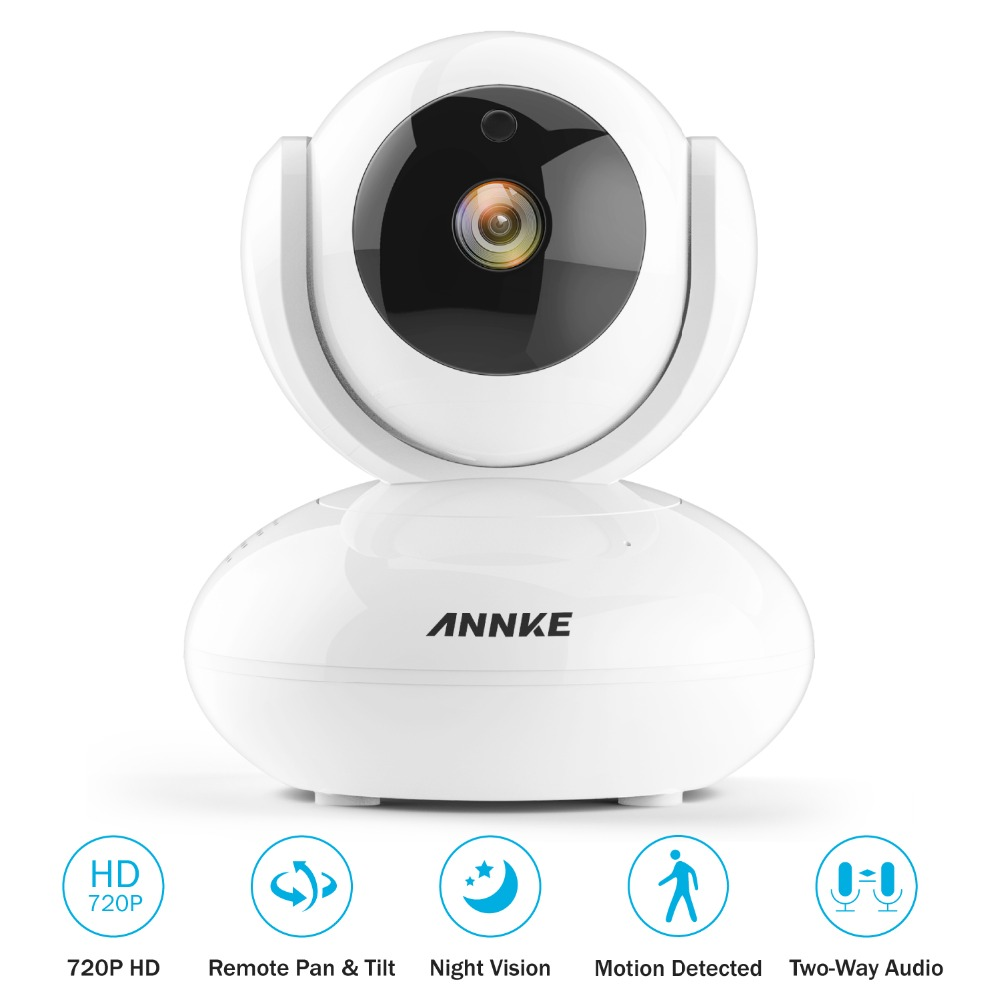 ANNKE 720P PT WiFi Security Baby Monitor Smart IR Night Vision IP Camera Two-Way Audio Wireless Surveillance CCTV Cam Home Kit