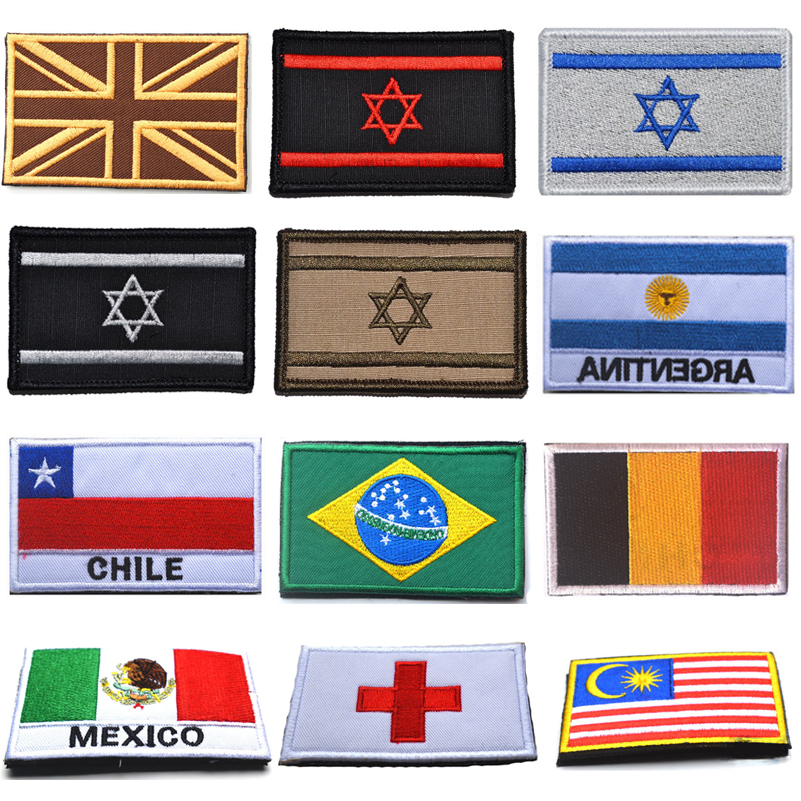Search For Flights Embroidered Country Flag Army Badge 3d Tactical Military Badges Fabric Cloth Combat Armband World Flag Badges Arts,crafts & Sewing
