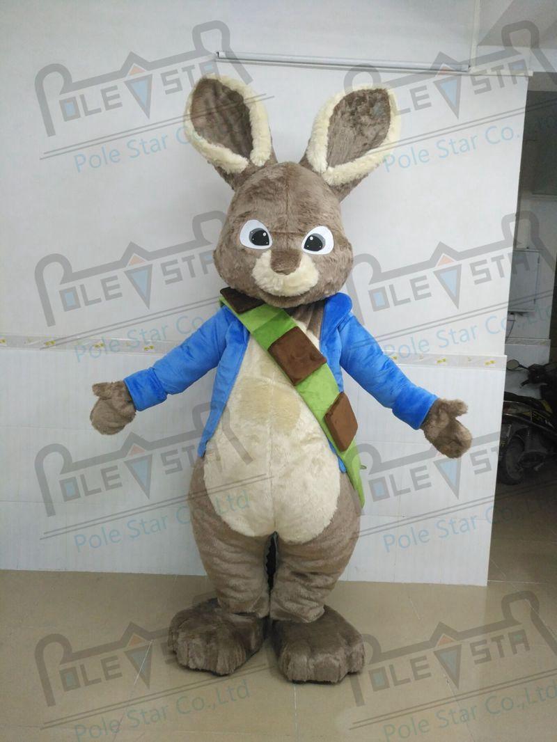 2ae279d87b033 plush Mr peter rabbit mascot costumes quality easter bunny mascot costumes