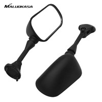 MALUOKASA Moto Rear View Mirror Brake Running Left Right Side Mirror For Kawasaki Ninja ZX6R 2005